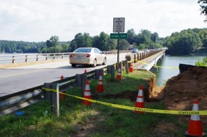 A worker on the NC 127 bridge repair project fell into Lake Hickory early Aug. 30. The worker's body was recovered later that afternoon.