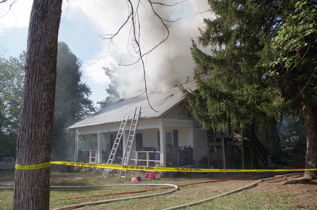 Six fire departments responded to this house fire in Stony Point on Thursday, Oct. 13, which displayed a family of 17 people.