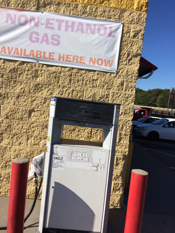 Customers at All American Raceway purchased gasoline when they believed they were buying kerosene. (Photo courtesy of Alexander County Fire Marshal.)