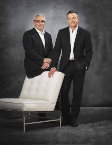 Furniture company co-founders Mitchell Gold and Bob Williams.