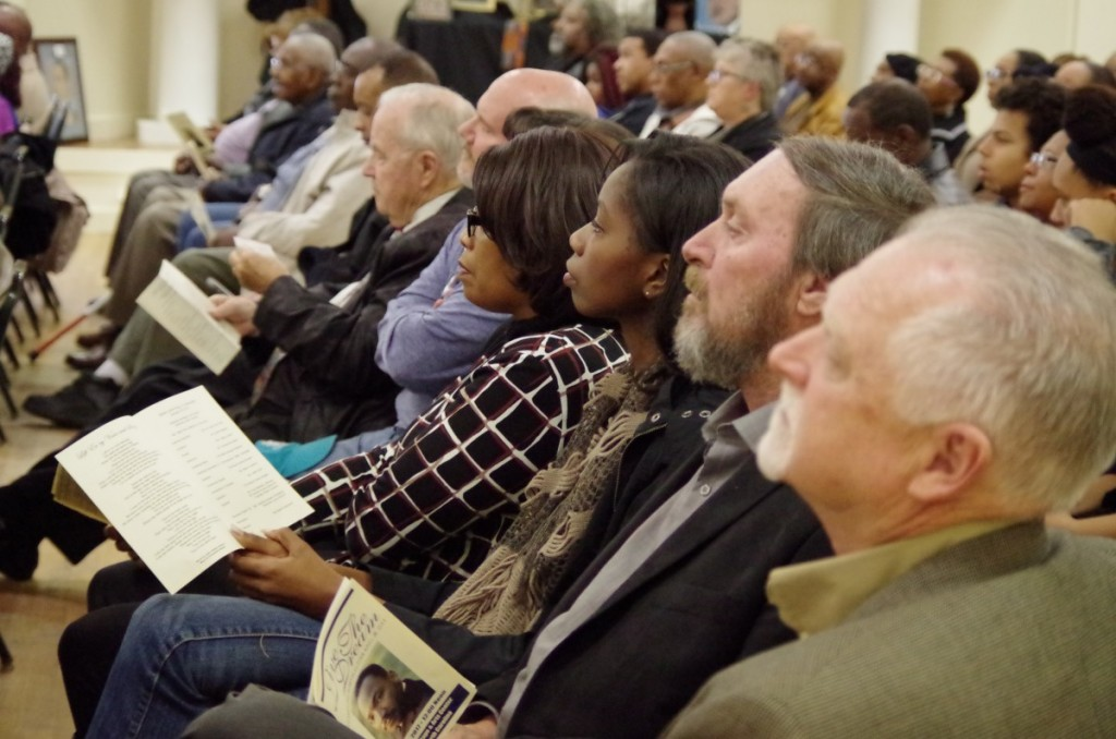 PEOPLE OF ALL BACKGROUNDS GATHER TO REMEMBER DR. KING — Black and white, Republican, Democrat, and unaffiliated -- all gathered together at the Hiddenite Arts and Heritage Center on Monday, January 16, to celebrate the legacy of slain civil rights leader Dr. Martin Luther King, Jr.