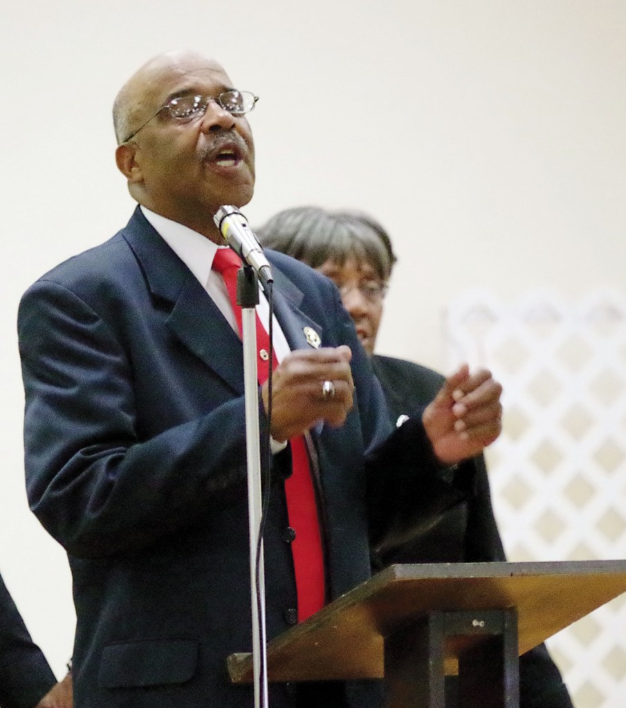 FIRST SIT-IN PARTICIPANT — Rev. Sterling Howard, above, Alexander Chapter NAACP President, related that he and Jim Westfield staged the first sit-in of a business in Alexander County.