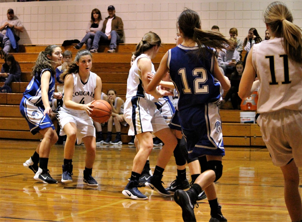 Lanie Hammer lines up a jump shot vs. North Lincoln