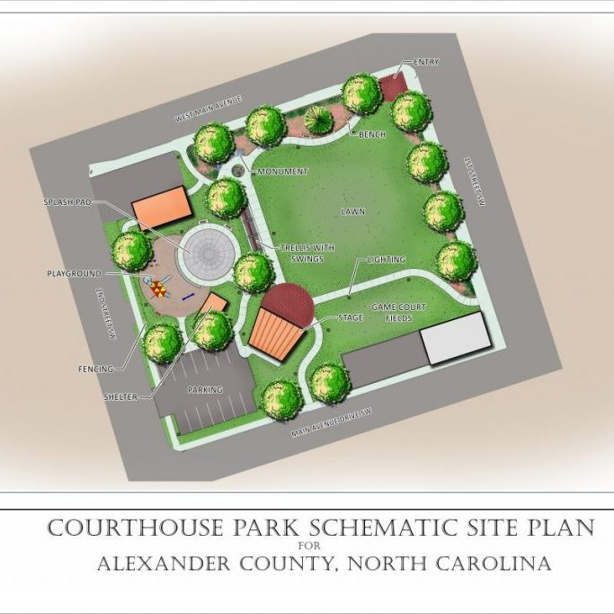 AC Courthouse Park Schematic Site Plan