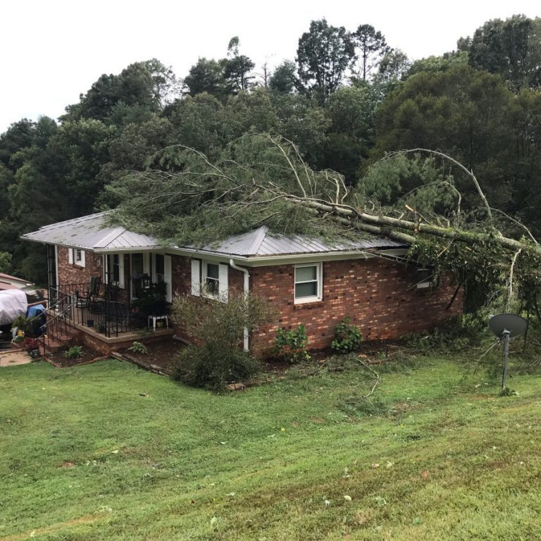 Trees fell on the home of Beth White and Joel Kerley on Valley Road in Lakemont Park, in the Bethlehem Community. Their house was among several other area homes with storm damage Aug. 13, 2019.