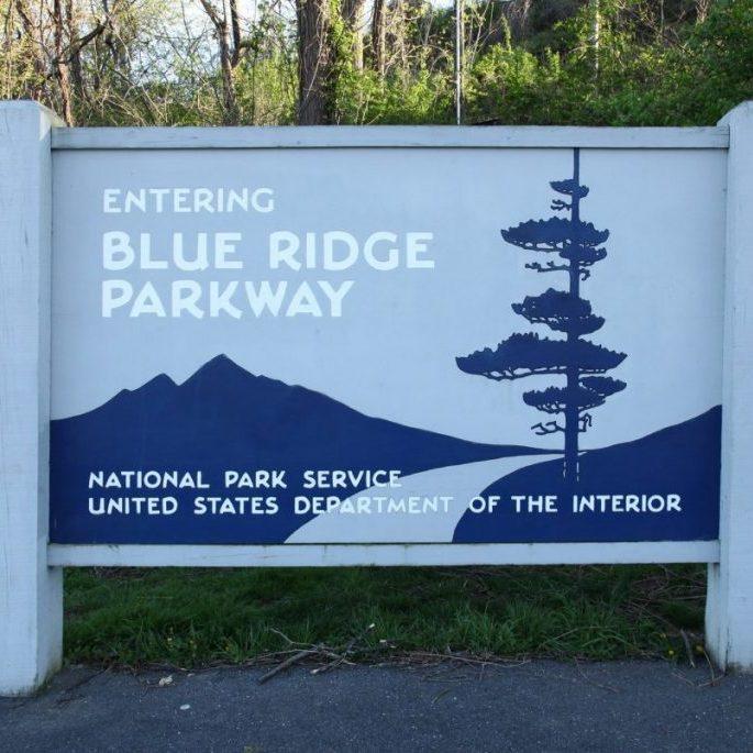 Blue Ridge Parkway sign
