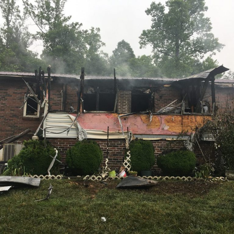 This home on Dock Connolly Lane was severely damaged by fire on Thursday morning, June 11, 2020.