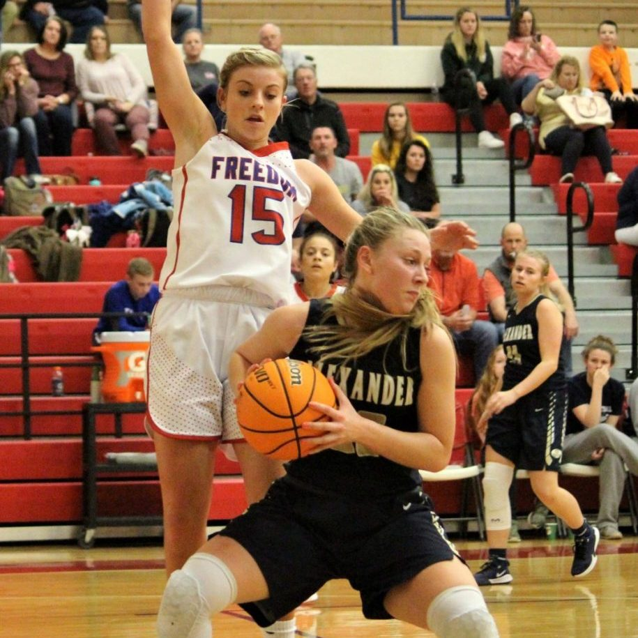 Freshman Sydney Hayes led ACHS with 16 points in Tuesday's road loss.