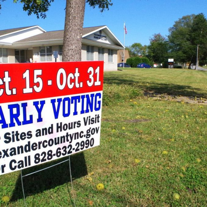 EARLY VOTING UNDERWAY, IN A BIG WAY — The voters in Alexander County have flocked to the polls during the Early Voting period, which began October 15 and continue through Halloween Saturday in three locations. (Photo by Lauren Wasmund.)