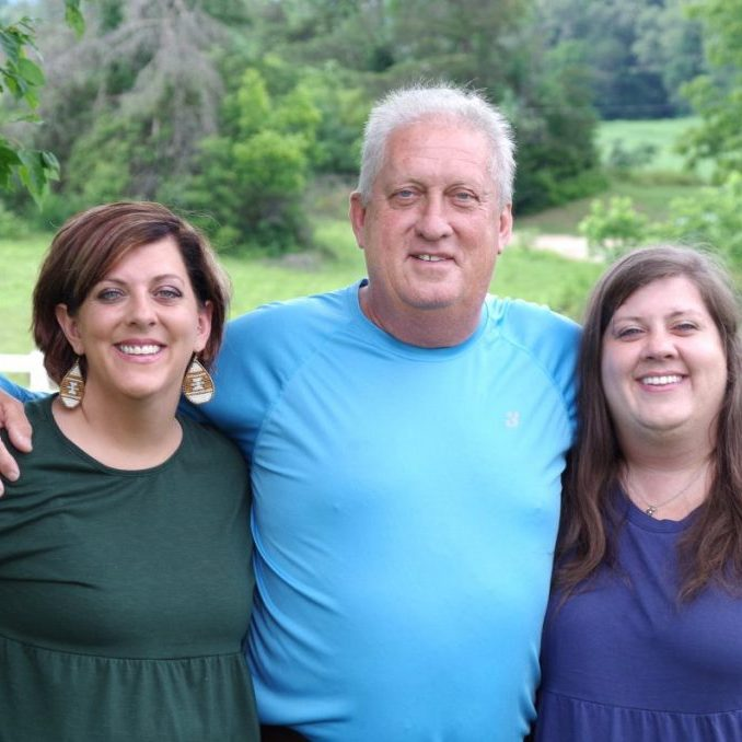 WITH HIS GIRLS — Mr. Robin Harris, above, was named The Taylorsville Times' 2021 Father of the Year this week after his daughter Harley Harris Mabry wrote the winning essay in the annual contest. Robin is shown above with his daughters Danielle (left) and Harley (right).