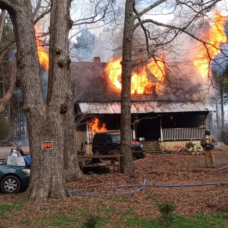 This home was destroyed in a fire on Jan. 7, 2021, on Old Landfill Road.