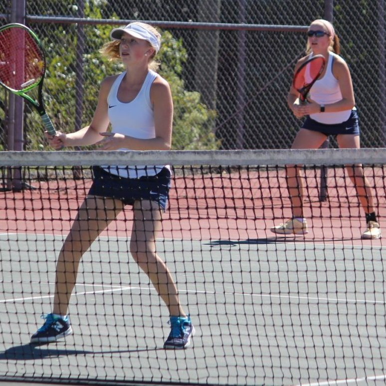 Alexander Central's Hannah and Emma Maltba won the NWC 3A Tennis Doubles title on Friday.
