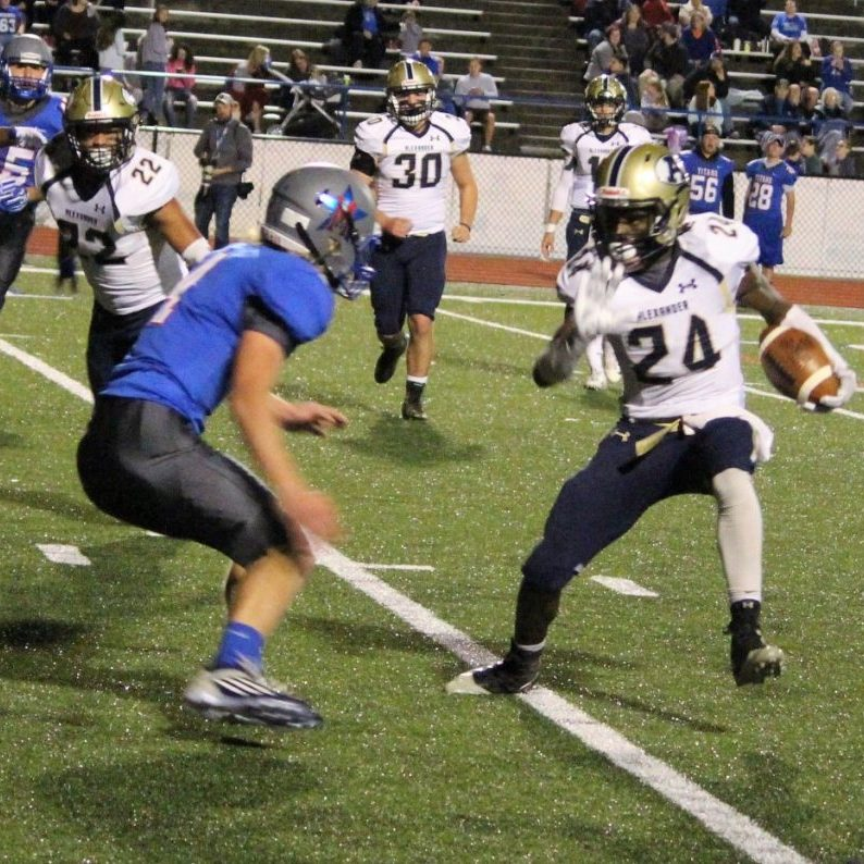 AJ Miller ran for 125 yards to lead the ACHS rushing attach vs. McDowell