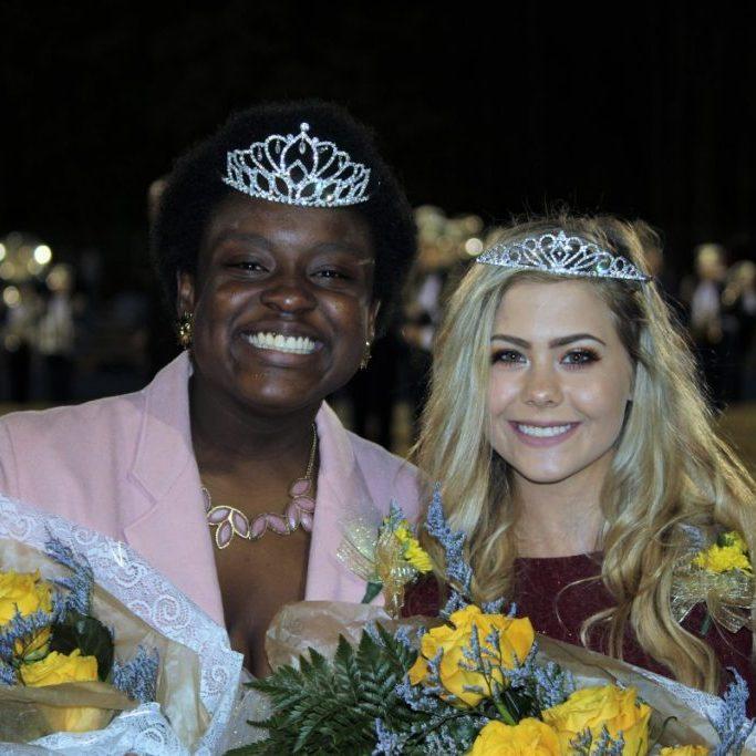 On Thursday, November 8, Tatiana Pierre, left, was crowned the ACHS Homecoming Queen, while Tara Chatham was picked as the school's Homecoming Princess.