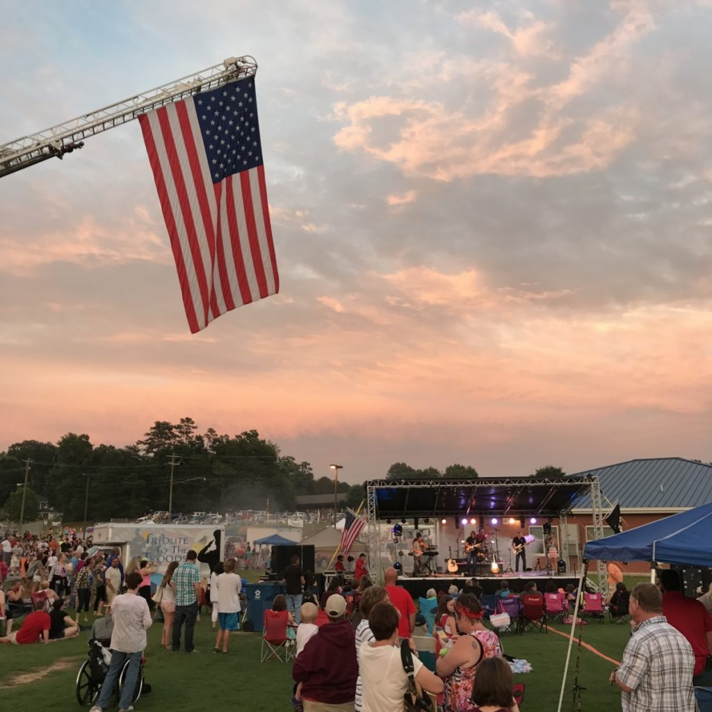 This shows a scene from the 2017 Independence Celebration at ACHS.